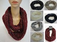 Knitted Infinity Scarf [Braided Knit-Metallic]